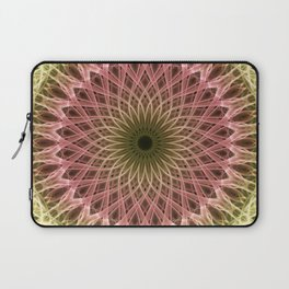 Detailed mandala in gold and red ones Laptop Sleeve