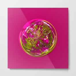 Its a purple and yellow flower in the globe Metal Print