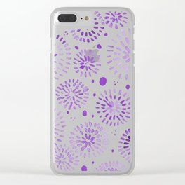Abstract watercolor sparkles – ultra violet Clear iPhone Case