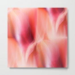 Colorgradient pink and orange Metal Print