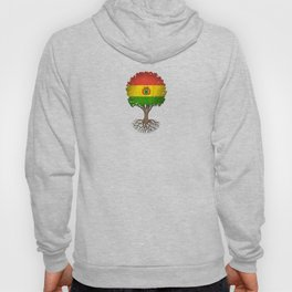 Vintage Tree of Life with Flag of Bolivia Hoody