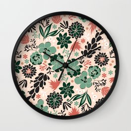 Succulent flowerbed Wall Clock