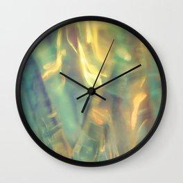 Sunlight in the Emerald Sea Wall Clock