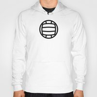 volleyball Hoodies featuring Volleyball - Balls Serie by Brigada Creativa