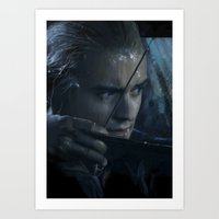 legolas Art Prints featuring Legolas by Alba Palacio