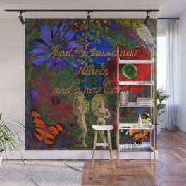 """Adam and Eve's Scriptured """"Earth"""" Wall Mural"""
