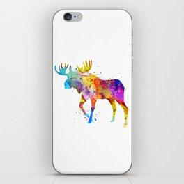 Watercolor Moose iPhone Skin