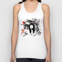 subaru Tank Tops featuring Japanese Geisha Warrior by viva la revolucion