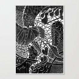 Zen doodle zentangle inspired art Canvas Print