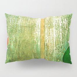 Metallic Face (Green Version) Pillow Sham