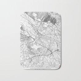 Bremen Map White Bath Mat