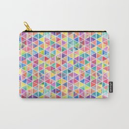 Colorful Watercolor Triangle Pattern Carry-All Pouch