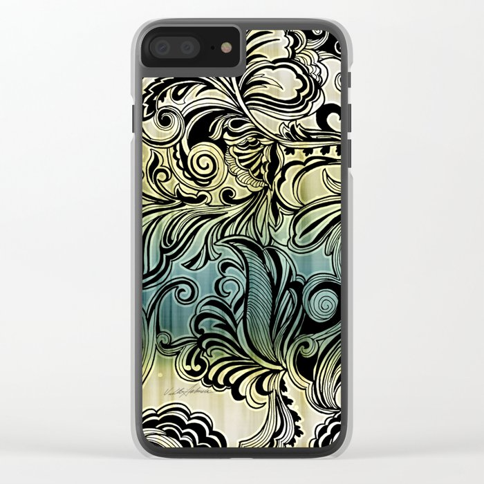 Swirl and Curl Clear iPhone Case