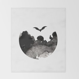 Primitive Halloween Moon Phase Throw Blanket