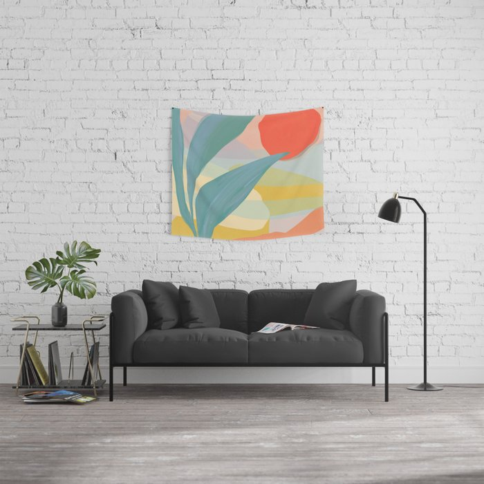 Shapes and Layers no.33 Wall Tapestry