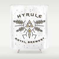 hyrule Shower Curtains featuring Hyrule Royal Brewery by Tugrul Peker