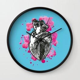 Heart me acqua Wall Clock