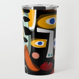 African Woman is dreaming in the sunrise Travel Mug