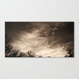 Telephone Wires & Crows Canvas Print