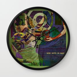 Newest Note in Music Wall Clock