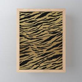 Tiger Animal Print Glam #1 #pattern #decor #art #society6 Framed Mini Art Print