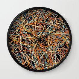 Colored Line Chaos #15 Wall Clock