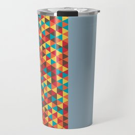 Retro Bicolore Geometric Design Travel Mug