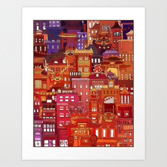 China Town Art Print