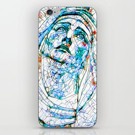 Glass stain mosaic 8 - Madonna, by Brian Vegas iPhone Skin