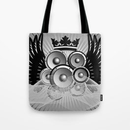 Abstract music illustration with wings Tote Bag