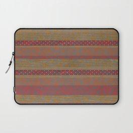Cozy Autumn Stripes Laptop Sleeve