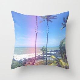 Fragmented Palm Throw Pillow
