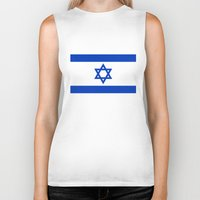 palestine Biker Tanks featuring The National flag of the State of Israel by LonestarDesigns2020 is Modern Home Decor