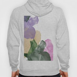Pretty Pastel Roses on White Background Hoody