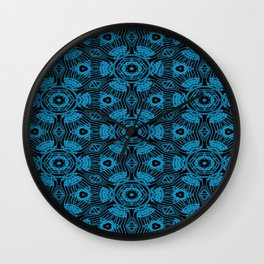 Black and Blue String Art 4406 Wall Clock