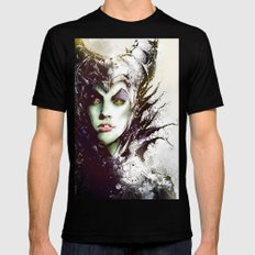 Maleficent Black LARGE Mens Fitted Tee