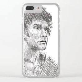 Bellamy Blake Sketch Clear iPhone Case