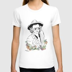 Harry Styles Womens Fitted Tee White MEDIUM