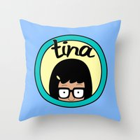 tina Throw Pillows featuring Tina by Page394