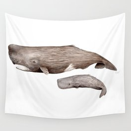 Sperm whale Wall Tapestry
