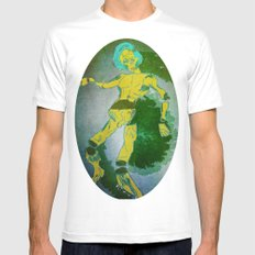 floating on air MEDIUM Mens Fitted Tee White