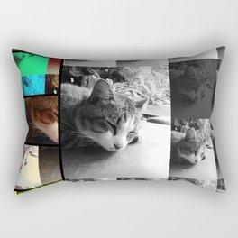 Mimi the cat - sleeping Rectangular Pillow