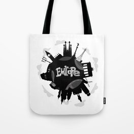 Europe World with Significant Buildings Tote Bag