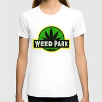 jurassic park T-shirts featuring Weed Park Jurassic style  by Spyck
