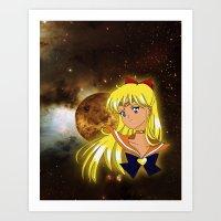 sailor venus Art Prints featuring Sailor Venus by Maren Lex