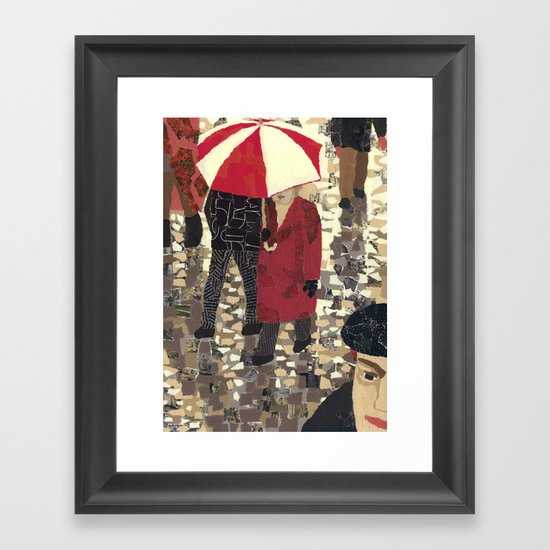 Bad weather (Mauvais temps) Framed Art Print