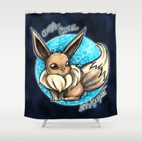 eevee Shower Curtains featuring 133- Eevee by Lyxy
