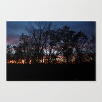 rileigh smirl Canvas Prints featuring Rainbow Sunset by Rileigh Smirl