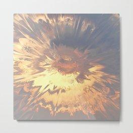 Sunset mandala explosion Metal Print