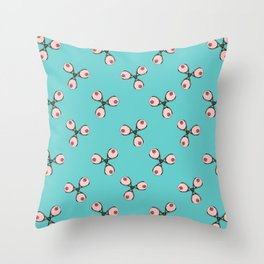 Tit Spinners Throw Pillow